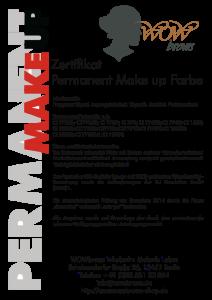 Wowbrows Zertifikat